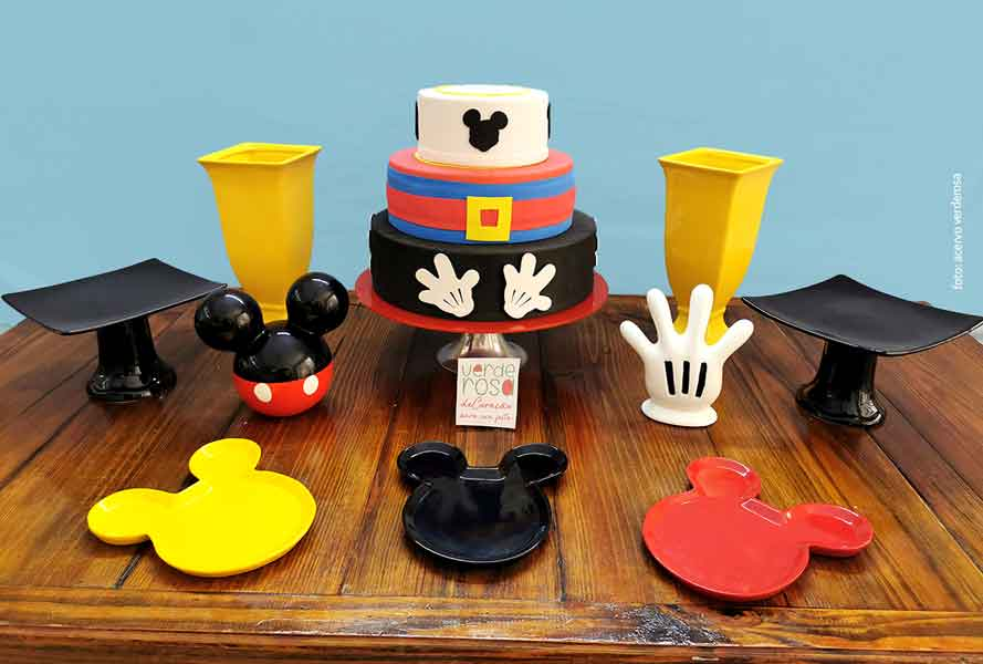 mesa decorada mickey
